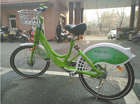 """济南公共自行车""""样品""""到货 车重20斤轻便且防盗"""