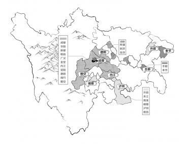 四川简笔画地图