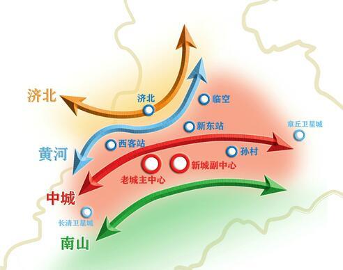 济南东西带状发展格局将改变 携河规划启动首提四带布局