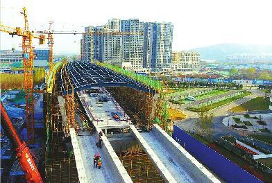 R1线前大彦站主体完工 将是济南轨道交通最早建成车站