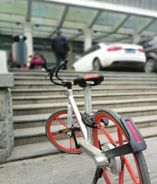 共享单车岂能变成共享专车? 统一停车区近半数乱放
