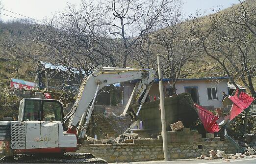 净水源!南山葫芦峪水库边22家农家乐拆除