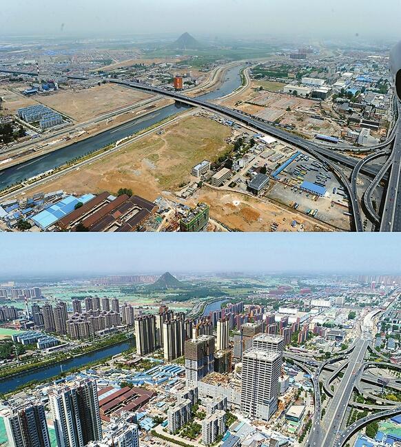 七年城变!百米高空相同角度拍摄泉城景观 变化日新月异