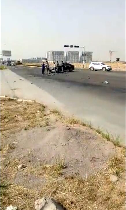 山东胶州一教练车在接送学员途中被撞飞 多人受伤