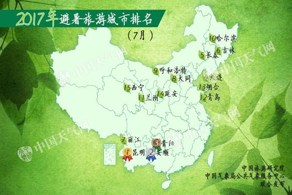 2017年避暑旅游城市排名公布 烟台青岛上榜