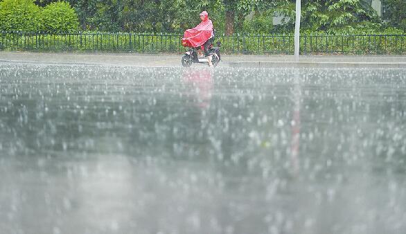济南瓢泼大雨击退高温天 今日有雷阵雨最高气温31℃
