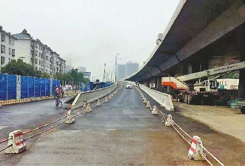 济南全福立交工业北路下桥匝道开放 南向东车辆可通行