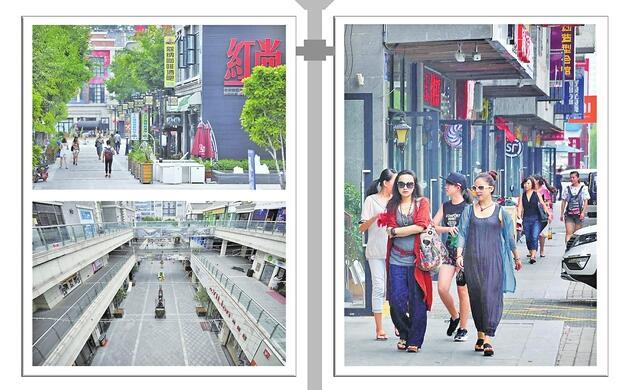 济南泉城路复古街区商铺空置人气不旺 无形藩篱待拆除