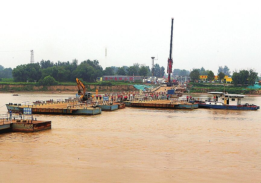 济南泺口浮桥拆除10天 过往车辆请注意绕行