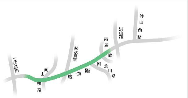济南旅游路中段晚高峰将设潮汐车道 东向西将变为4车道