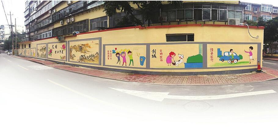 解放路街道:文明风景扮靓大街小巷
