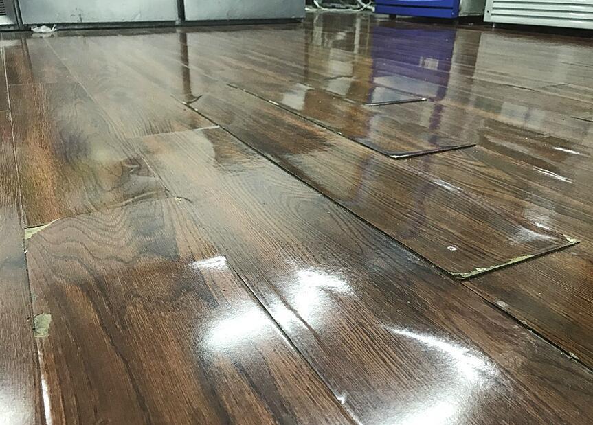 """刚铺的地板一周就""""鼓包"""" 海诺地板:便宜本就没好货"""