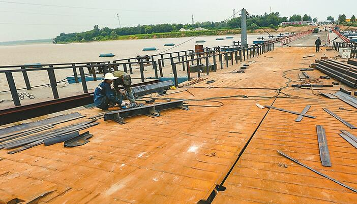 泺口浮桥升级改造工程进展顺利 预计3天后通车