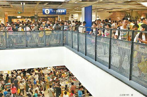 宜家会员开放首日爆挤 停车入场吃饭结账至少3个小时