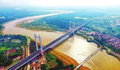 携河北跨路网先行 齐河黄河大桥已全面建设完工