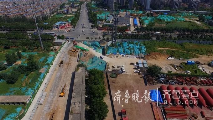 """济南花园东路""""卡脖路""""拓宽 改为八车道"""