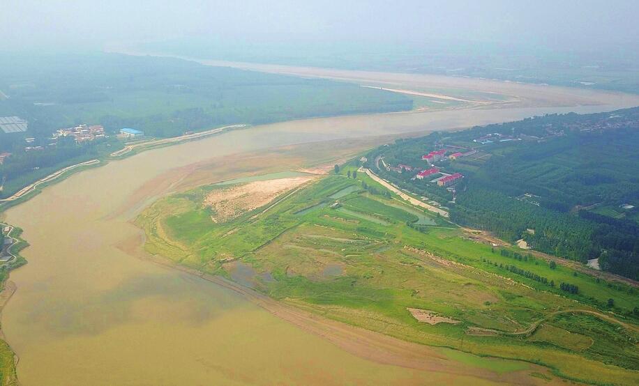 黄河迎来秋汛 黄河济南泺口段水流量超过300立方米/秒