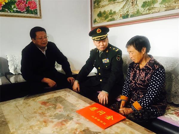 省军区首长来济走访慰问帮扶村 参观援建项目建设情况
