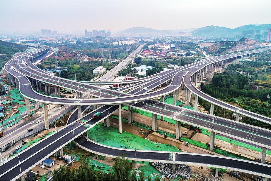 """一条""""飞龙""""贯穿南北 济南二环西路南延高架通车在即"""