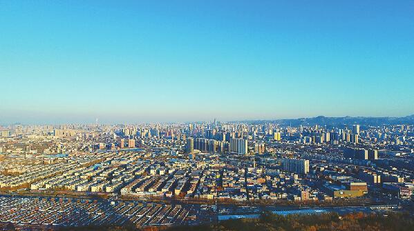 济南蓝天美出新高度 气温也创下新低