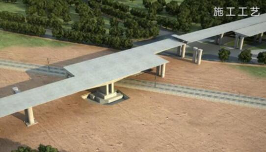 胶东机场桥梁施工国内首创转体法 国内桥梁建筑史上的创举