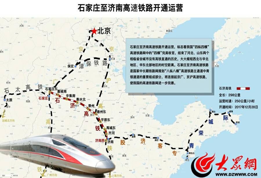 石济高铁正式开通啦!2小时穿越晋冀鲁三省