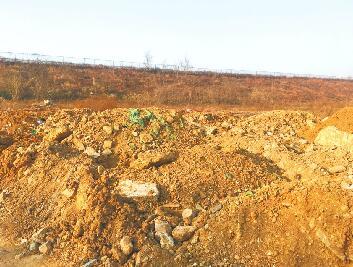 济南国际赛马场北侧有渣土和马粪裸露