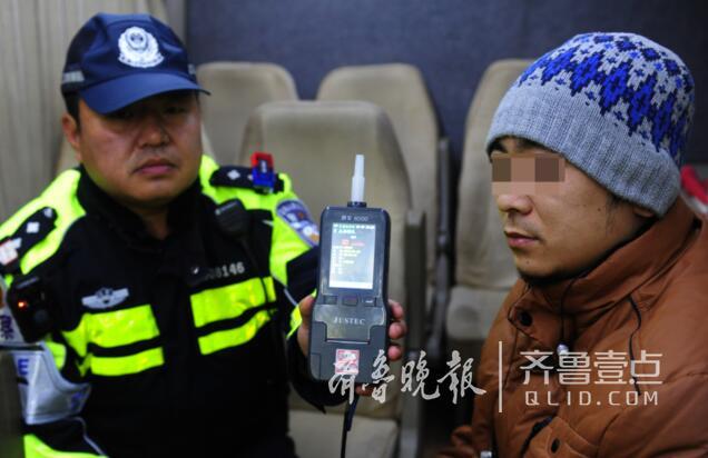 济南2018首个被查酒司机:吹气值80mg/100ml