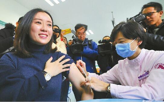 济南注射省内首针四价宫颈癌疫苗 一周后市民可到附近门诊就近接种