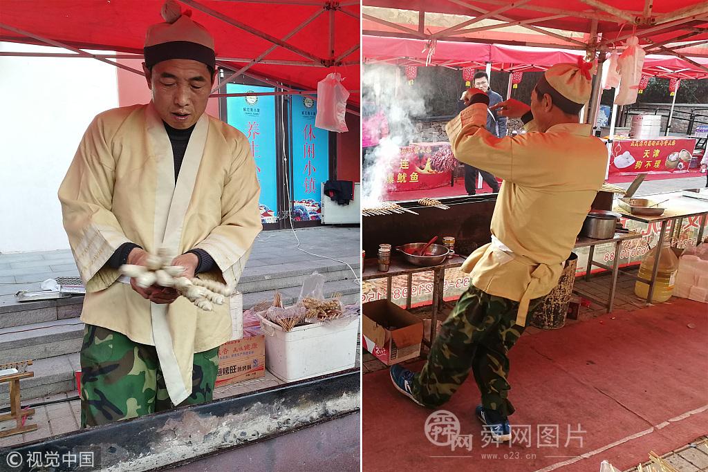 """日照:50岁大叔穿古装跳""""鬼步舞"""" 景区卖烧烤日进千元"""