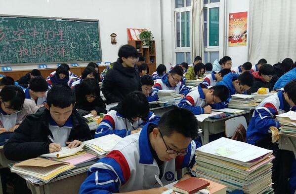 济南一中举行2017级高一英语书法大赛活动
