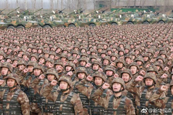 中央军委首次举行开训动员大会 习近平向全军发布训令