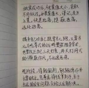 """小偷自称名校辍学 """"作案攻略""""字迹工整爆红网络堪称行业教父"""