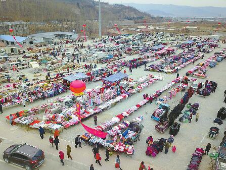千年仲宫大集搬进新家 设800余摊位可满足万余人赶集需求