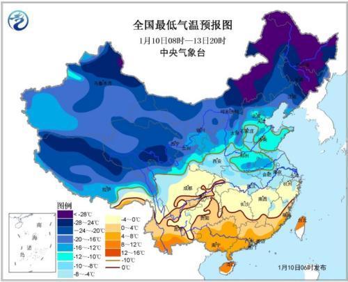北方大部地区有4~6级偏北风 黑龙江吉林等地有雪