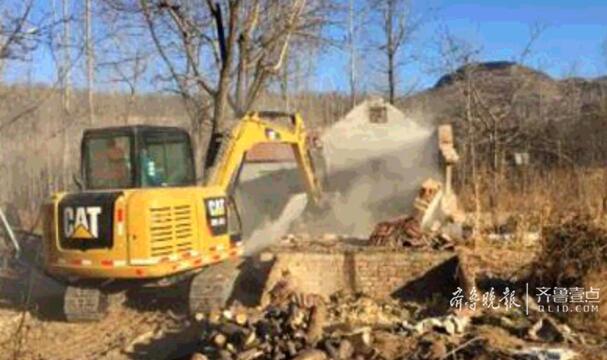 济南锦绣川水源地拆除8处违建 离水源地最近五六米