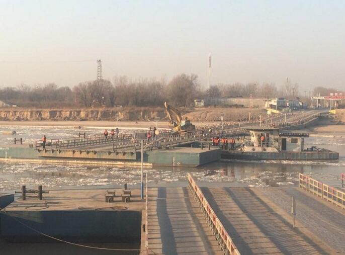 提醒: 为防凌汛济南泺口浮桥拆 可绕行黄河公路大桥