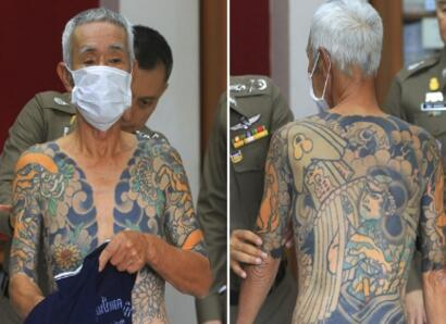 日本黑帮大佬误成网红终被捕 跑路15年败在了纹身上
