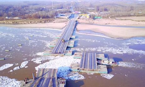 黄河山东段蔓延475公里拆19座浮桥 济南6座