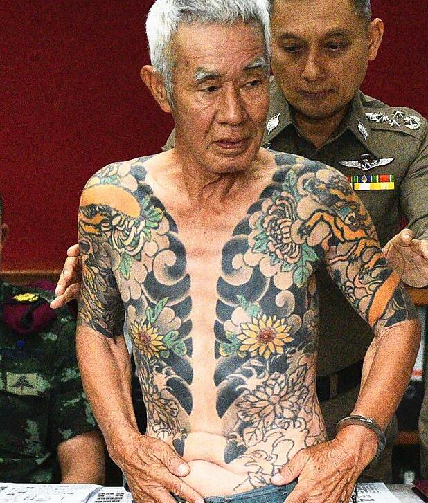 误成网红终被捕 日黑帮大佬背命案逃亡泰国近15年因文身被引渡