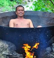 这个奇葩热水浴