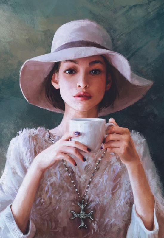 数字艺术家笔下的美女肖像