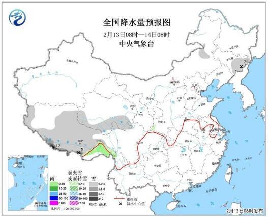 中东部气温明显回升局地超10℃ 青藏高原有雨雪(图)
