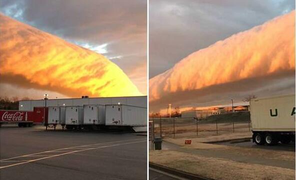 震惊!美国惊现牵牛花云类似暗影怪物 巨大长龙蜿蜒向前十分壮观(图)