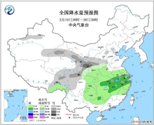 江汉江淮江南多阴雨天气 中国大...