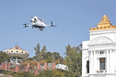 自动驾驶载人飞行器广州首飞 未...