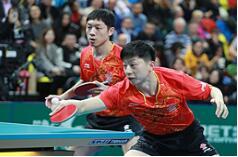 中国乒乓球队团体世界杯赛开门红...