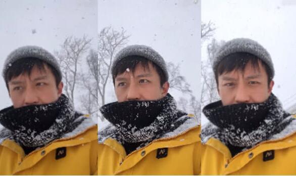 """脑子进雪!邓超搞怪新花招再博眼球 大顽童头埋雪中演绎真""""冻龄"""""""