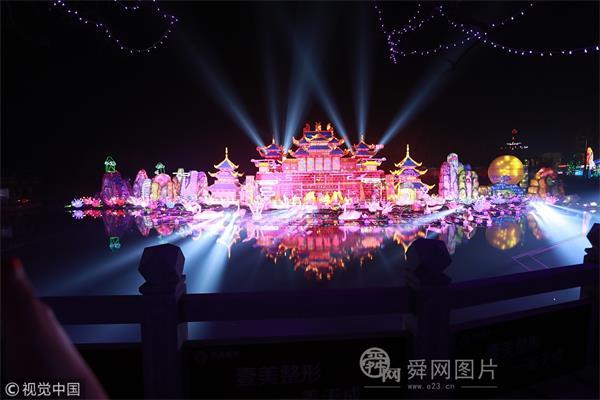 山东淄博:2018年中国淄博花灯节吸引游客