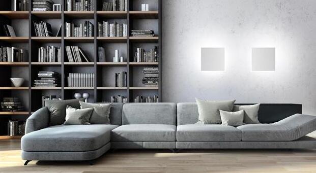 隐藏在墙里的室内照明灯 轻轻一按点亮整个房间